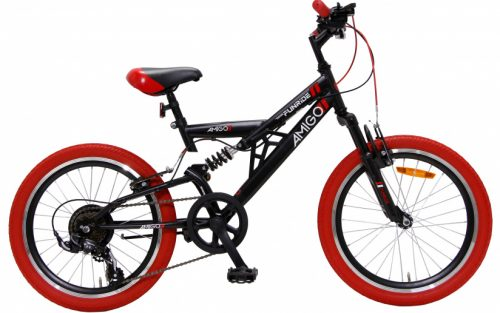 Amigo - Fun Ride 20 Inch 33 Cm Junior 7v V-brakes Zwart/rood