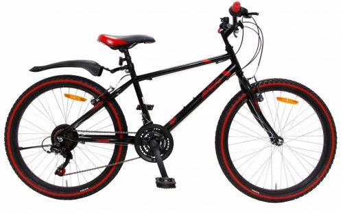 Amigo - Rock 24 Inch 38 Cm Junior 18v V-brakes Zwart/rood