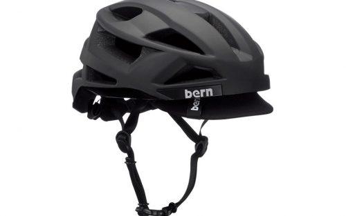 Bern FL-1 Pave Helm met vizier - Mat Zwart