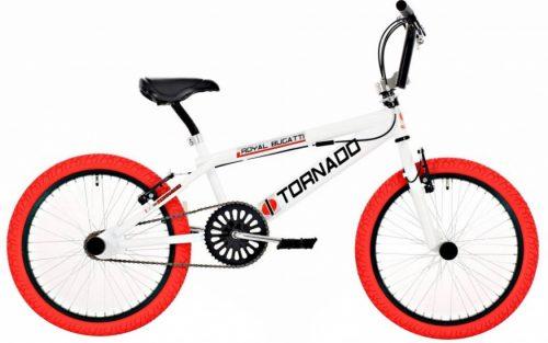 Bike Fun - Tornado 20 Inch 31 Cm Unisex V-brakes Wit/rood