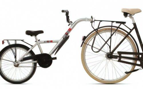 Bike2go - Aanhangfiets 20 Inch 42 Cm Junior Zilver
