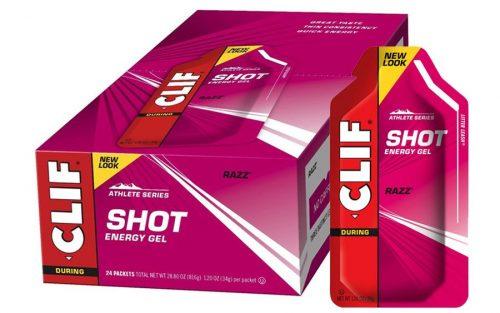 Clif Shot Energie Gel met Framboos (24 Stuks)