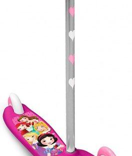 Disney - Princess 3-wiel Kinderstep Meisjes Voetrem Roze