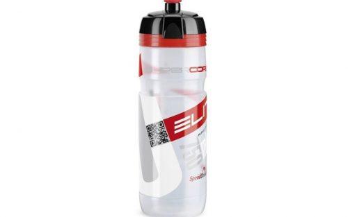 Elite Supercorsa 750ml Fiets Bidon - Doorzichtig/Rood
