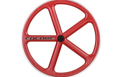 Encore 5 Spaak Voorwiel - Carbon Weave - Rood