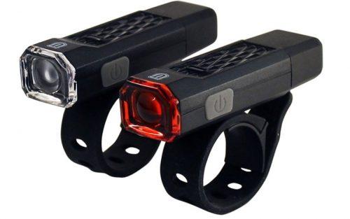 Fietslamp Kit USB Union 102 Li-ion Zwart