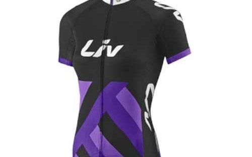 Giant Liv race day wielershirt zwart/paars
