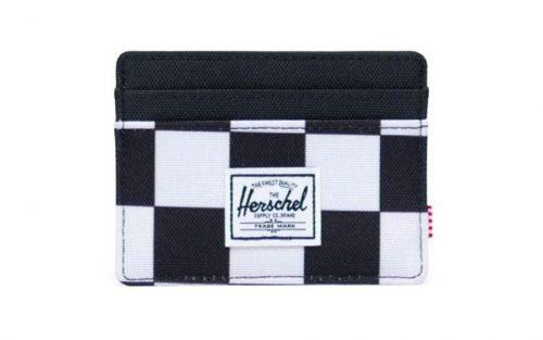 Herschel Charlie Pasjeshouder - Checker Black/White/Black