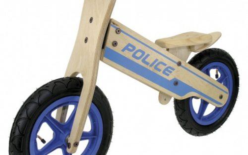 Kids Club - Loopfiets Politie 12 Inch Jongens Blauw