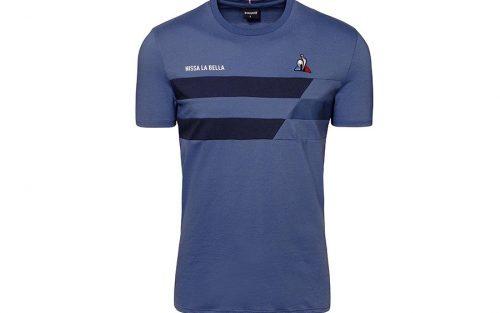 Le Coq Sportif TDF Nissa La Bella Blauw T-shirt