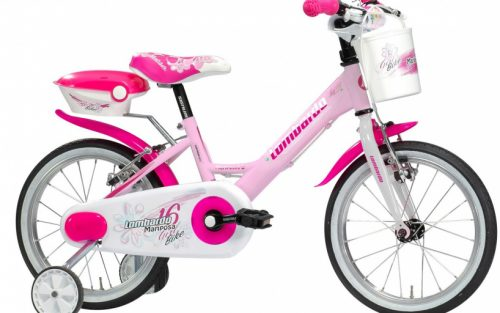 Lombardo - Mariposa 16 Inch 23 Cm Meisjes V-brake Wit/roze
