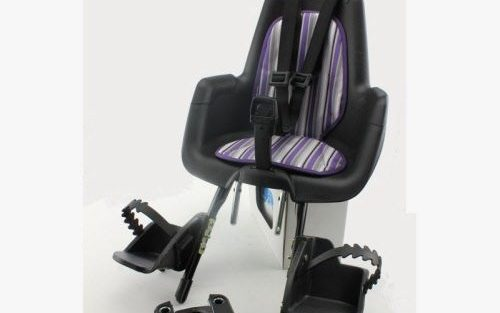 Mini Plus Classic Zwart voor fiets zitje met Lilac Mist Purple Inlay