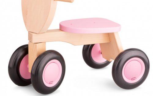 New Classic Toys - Loopfiets Road Star 4 Wielen 50 Cm Hout Roze