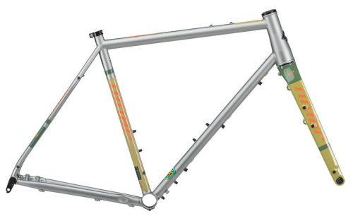 Niner Bikes RLT 9 STEEL Gravel Frame - Groen & Oranje