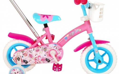 Ojo - Kinderfiets 10 Inch 18 Cm Meisjes Doortrapper Roze/blauw