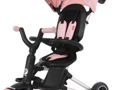 Qplay - Driewieler Nova 4-in-1 Meisjes Zwart/roze