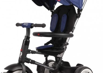 Qplay - Driewieler Rito Deluxe Junior Zwart/blauw