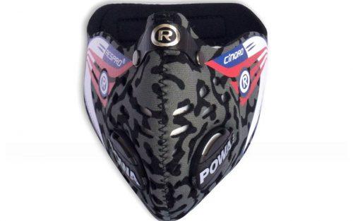 Respro Cinqro Masker - Camo Zwart/Grijs
