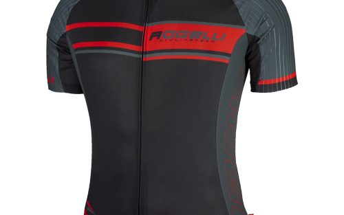 Rogelli Andrano wielershirt Zwart/Grijs/Rood