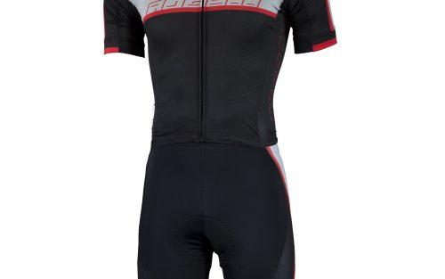 Rogelli Futuro speedsuit zwart / grijs / rood