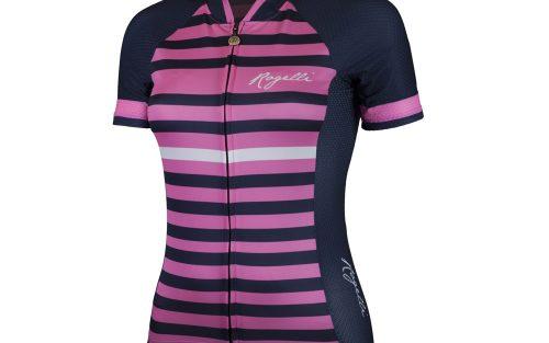 Rogelli Ispira KM wielershirt blauw / roze