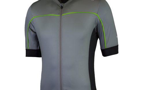Rogelli Passo KM wielershirt grijs / groen