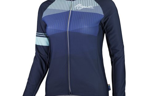 Rogelli Stelle LM wielershirt blauw / turquoise