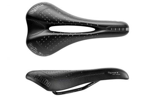Selle Italia Sport Gel Flow S2 Zadel - Zwart