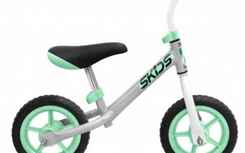 Skids Control - Loopfiets 10 Inch Junior Grijs/turquoise