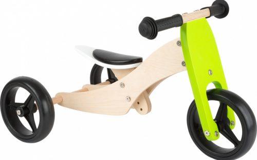 Small Foot - Tricycle Trike 2-in-1 Loopfiets 10 Inch Junior Groen