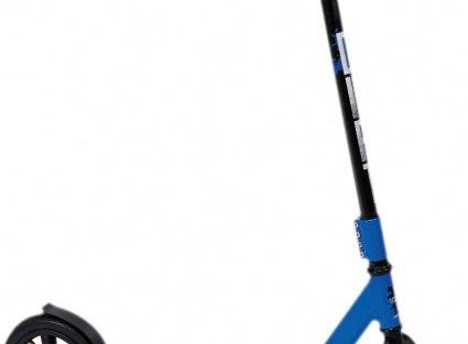 Stamp - 2-wiel Kinderstep Junior Voetrem Zwart/blauw
