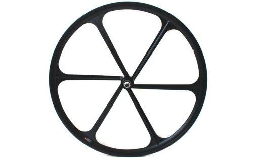 Teny Rim Six Spoke Voorwiel - Zwart
