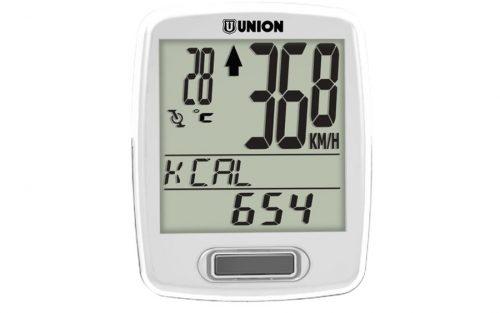 Union Fietscomputer 12 functies (draadloos) - Wit