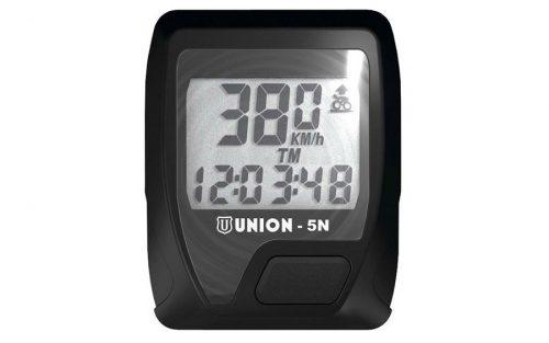 Union Fietscomputer 5 functies - Zwart