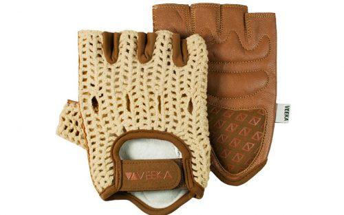 Veeka Binda tan-bruine handschoenen