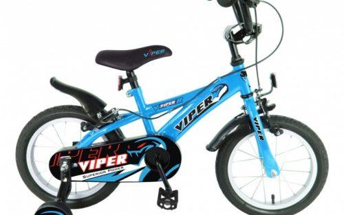 Viper - Jongensfiets 14 Inch 24 Cm Jongens Knijprem Blauw
