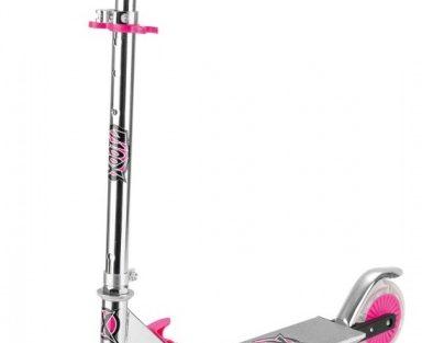 Xootz - Folding Step Led Wielen Meisjes Voetrem Roze