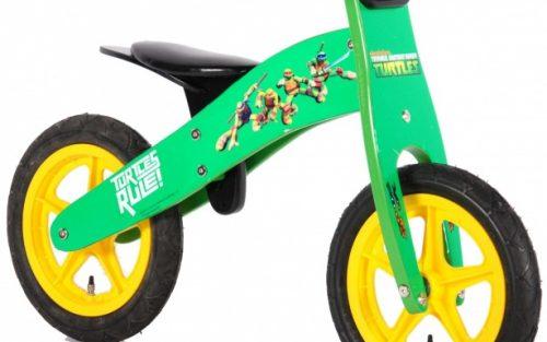 Yipeeh - Ninja Turtles Loopfiets 12 Inch Jongens Groen