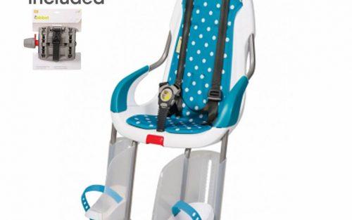 achterzitje wit inclusief bevestigings materiaal voor bagagedrager Polka dots blue