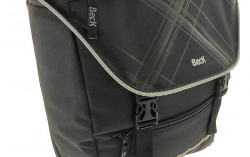 Beck Enkele fietstas SPRTV Single Print X 15L Zwart