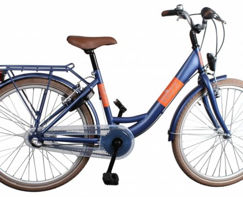 Bike Fun - Blizz 26 Inch 43 Cm Meisjes 3v Terugtraprem Matblauw