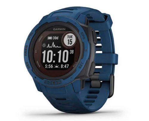 Garmin Instinct Solar Blauw Smartwatch