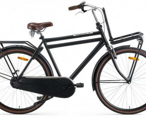 Popal - Daily Dutch Basic+ 28 Inch 57 Cm Heren 3v V-brakes Matzwart