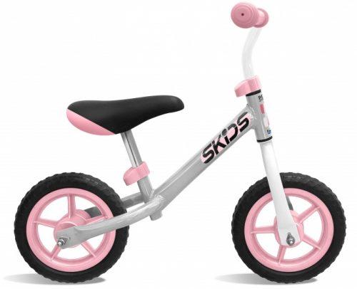 Skids Control - Loopfiets 10 Inch Junior Grijs/roze