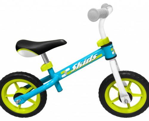 Skids Control - Loopfiets 10 Inch Junior Lichtblauw/lichtgroen