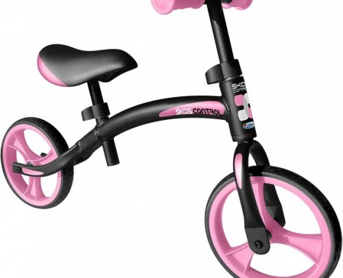 Skids Control - Loopfiets 10 Inch Junior Zwart/roze
