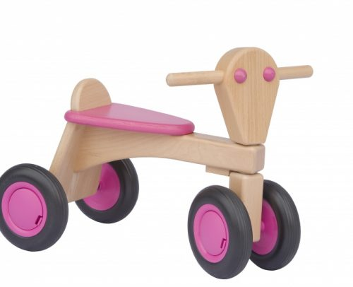 Van Dijk Toys - Houten Loopfiets Junior Roze