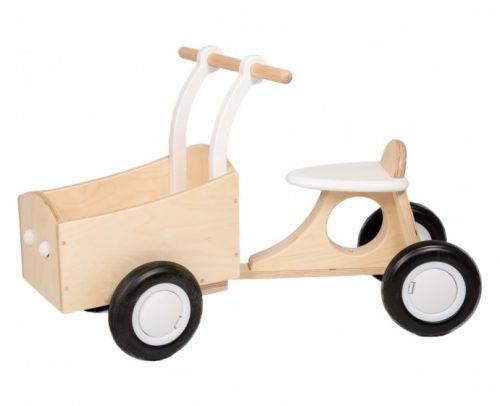 Van Dijk Toys - Loop-bakfiets Junior Wit