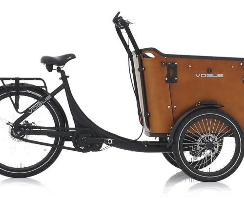 Vogue Superior 3 Deluxe Bakfiets 48cm Matt Black/Brown 8V