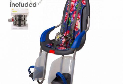 achterzitje inclusief bevestigings materiaal voor bagagedrager Blossom roses blue